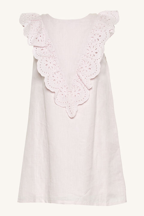 HILDE BRODERIE SHIFT DRESS in colour PRIMROSE PINK