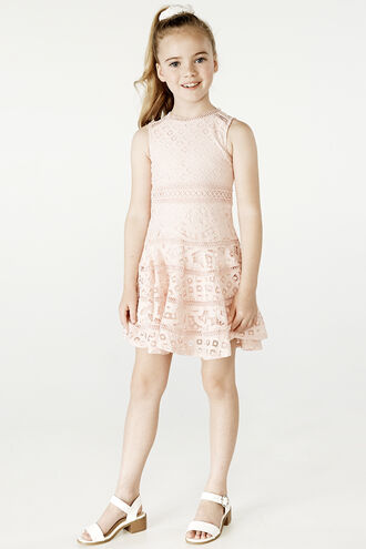 ELISE LACE DRESS in colour MOOD INDIGO