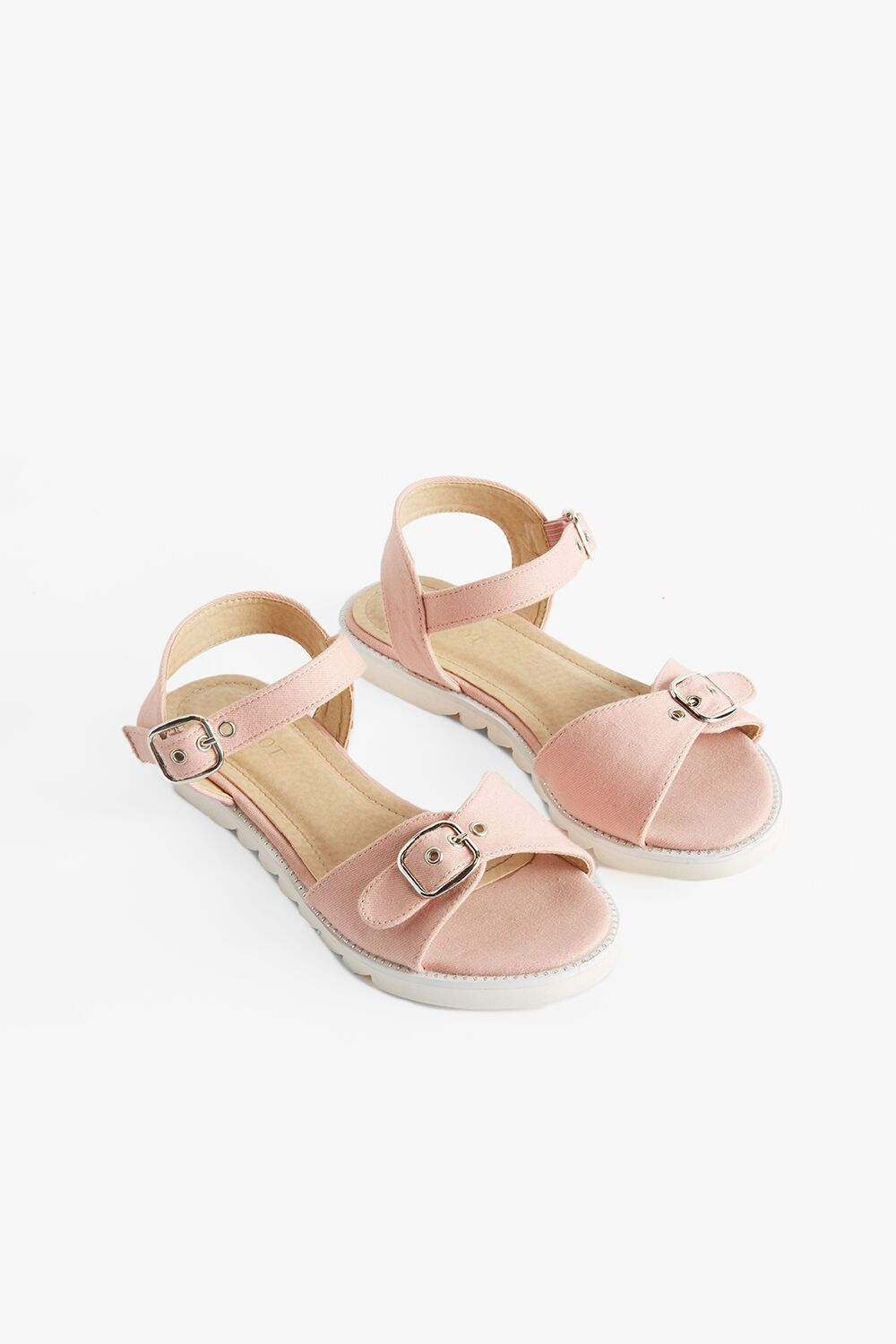 BUCKLE EYELET SANDAL in colour PARADISE PINK