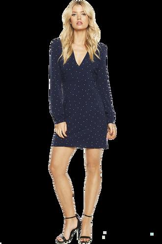 SPOTTY DRESS in colour PATRIOT BLUE