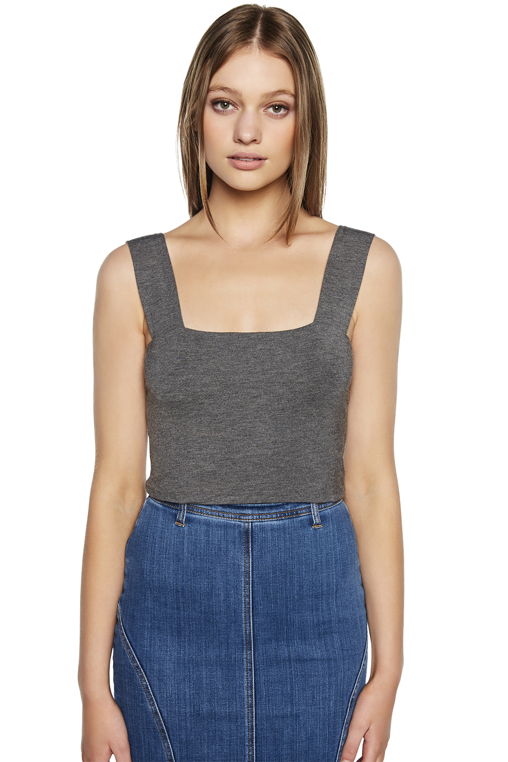MIMI CROP TOP in colour FROST GRAY