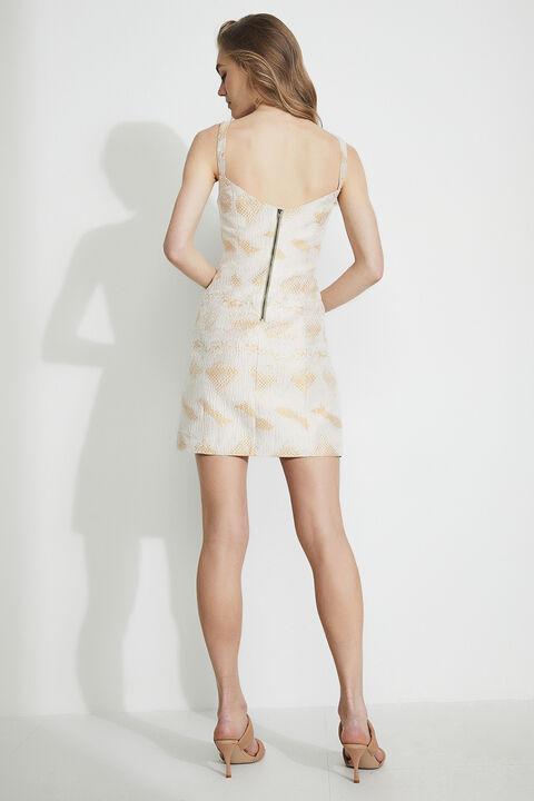MINI SNAKE DRESS in colour CANYON ROSE