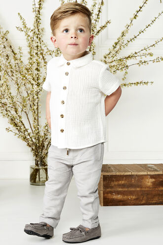 OWEN S/S LINEN SHIRT in colour BRIGHT WHITE