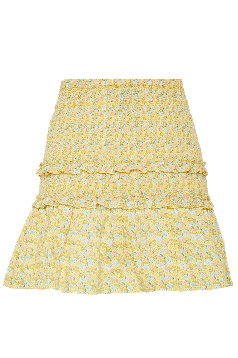 CRISTIANA SKIRT in colour PASTEL YELLOW