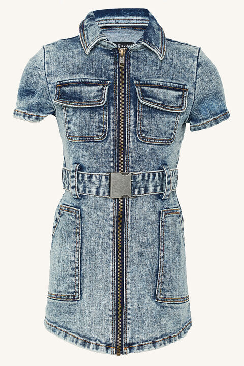 NIKKI DENIM SHIRT DRESS in colour BRIGHT WHITE