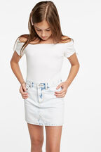 TWEEN GIRL CIARA BODYSUIT in colour CLOUD DANCER