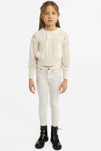 SABE LACE TOP in colour CLOUD DANCER