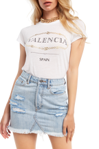 VALENCIA FOIL PRINTED TEE in colour BRIGHT WHITE