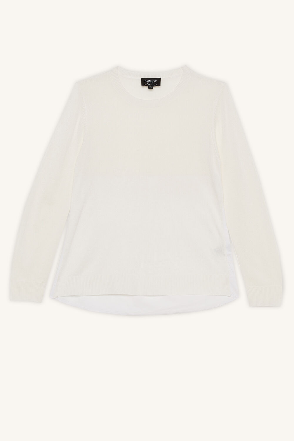 ELORA KNIT JUMPER in colour WHISPER WHITE
