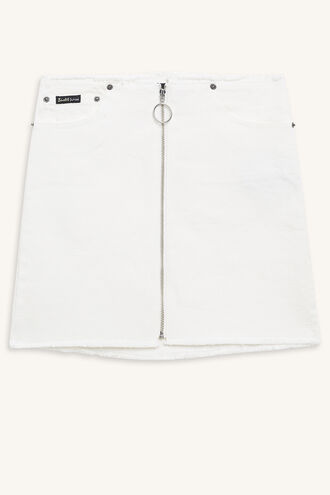 DARIA DENIM SKIRT in colour CLOUD DANCER