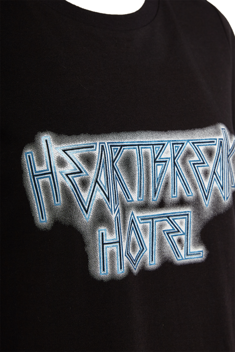 HEARTBREAK HOTEL TEE in colour CAVIAR
