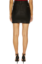 TUSK MINI COATED SKIRT in colour JET BLACK