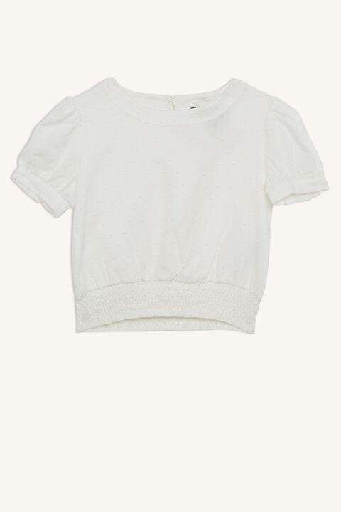 eryn short sleeve blouse in colour CLOUD DANCER