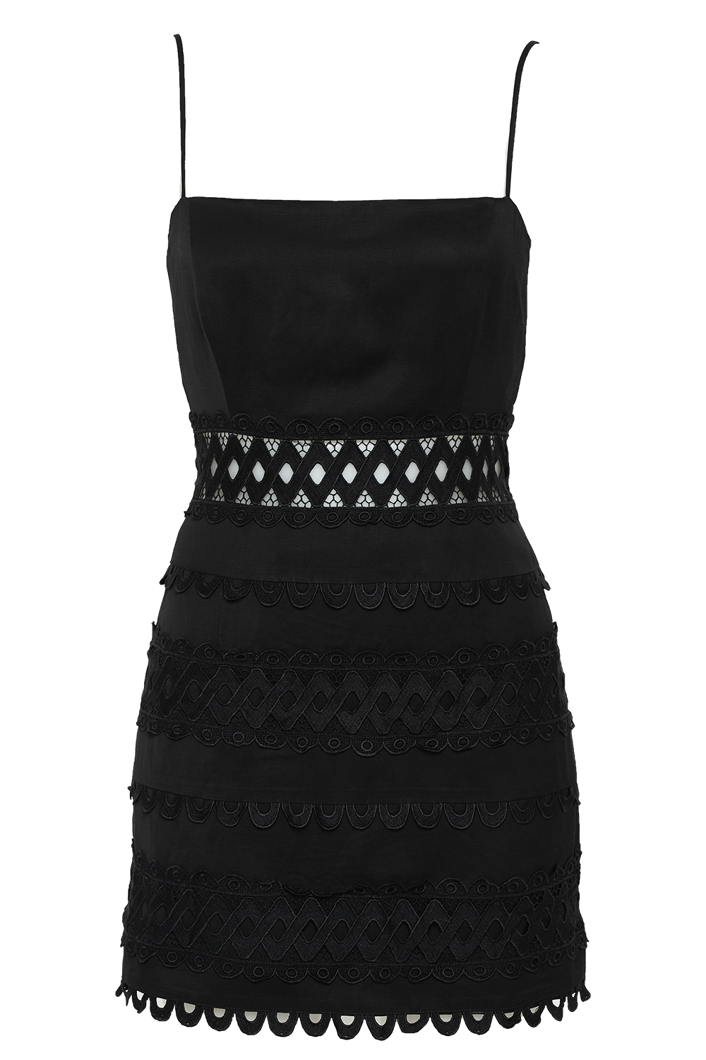 REMMIE TRIM DRESS in colour CAVIAR
