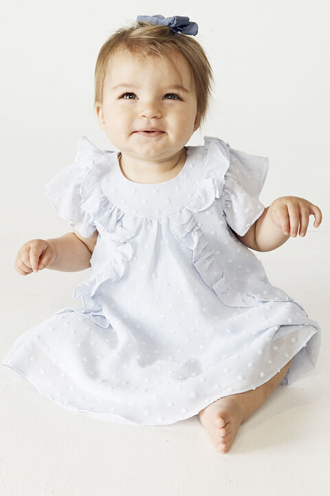 BABY GIRL OCILIA RUFFLE DRESS