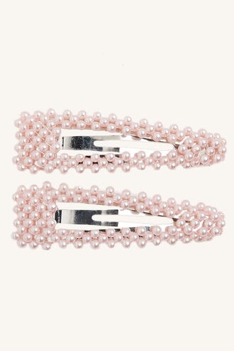 PINK PEARL CLIPS in colour GOLD EARTH