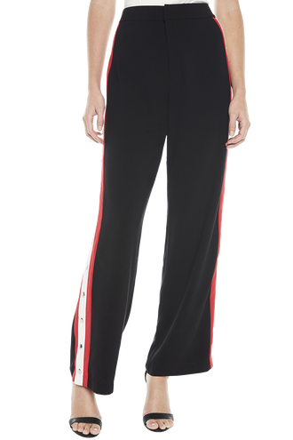COLOUR BLOCK SNAP PANT in colour CAVIAR
