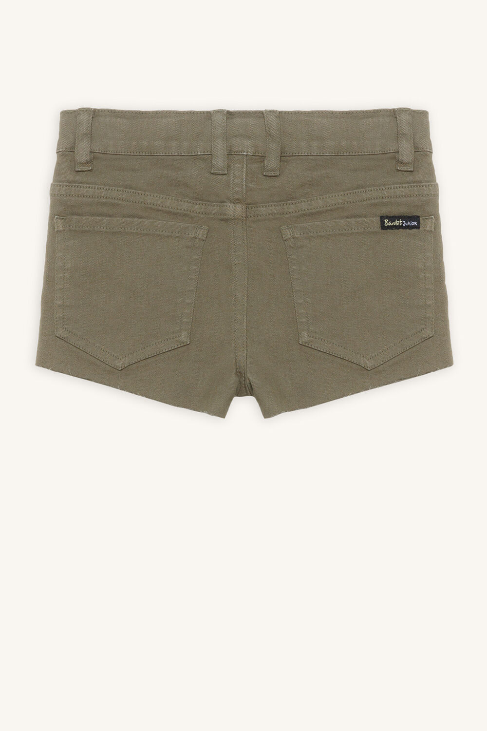 PIPPA DENIM SHORT in colour DEEP LICHEN GREEN