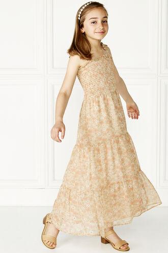 ELIZE MAXI DRESS in colour CREAM TAN