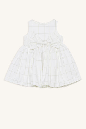 CHECK BOWIE DRESS in colour BRIGHT WHITE