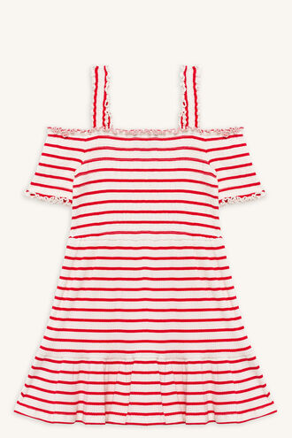 MARNIE RIB DRESS in colour LOLLIPOP