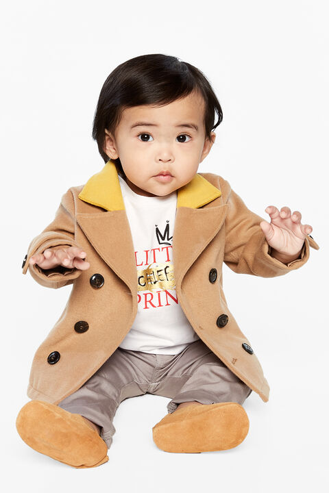 BABY BOY easton peacoat in colour TAN