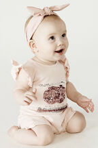 SPORTS SEQUIN ONESIE in colour PEARL