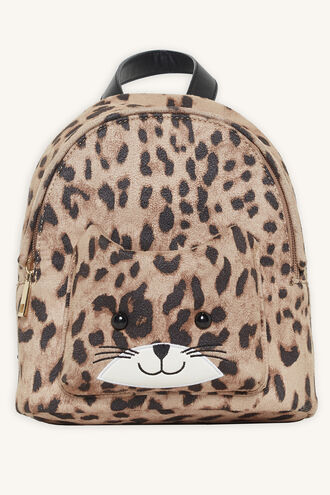LEOPARD CAT BACKPACK in colour ANTELOPE