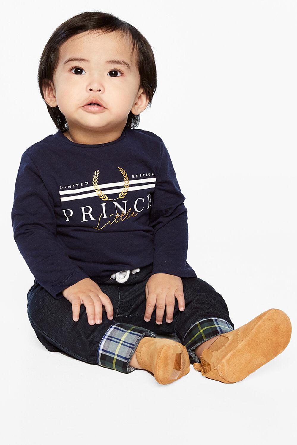 PRINCE LONG SLEEVE TOP in colour BLACK IRIS