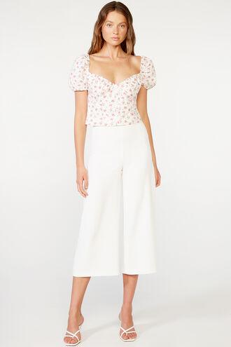ROSA TOP in colour STAR WHITE