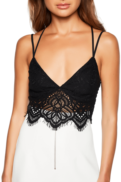 JOSIE BRALETTE TOP in colour CAVIAR