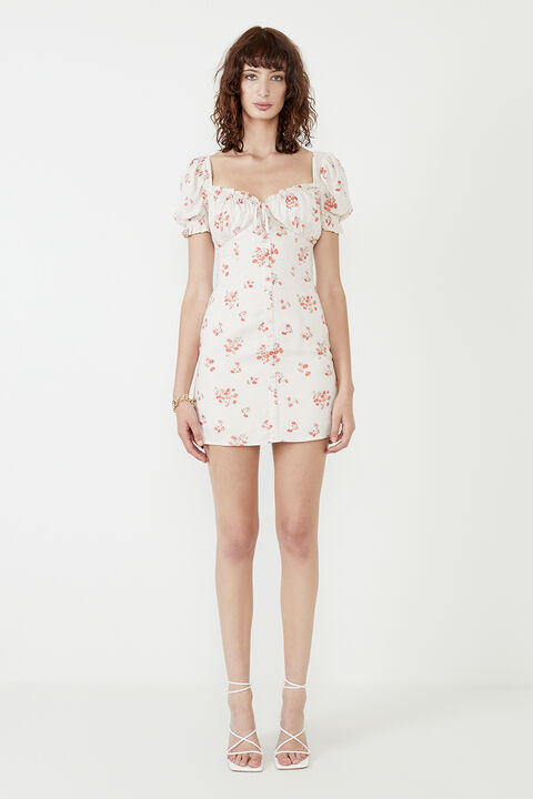 LUCINTA MINI DRESS in colour PEARLED IVORY