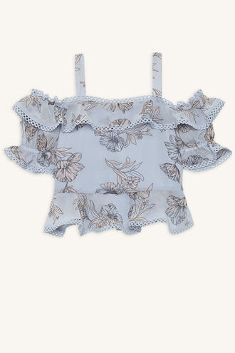 MILLY TRIM TOP in colour BALLAD BLUE