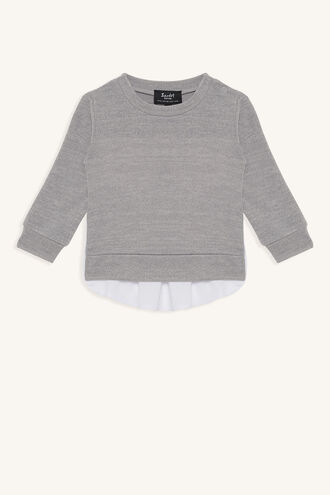 MIXED SWEATER in colour LUNAR ROCK