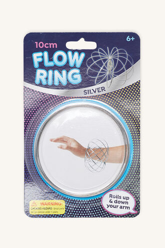FLOW RING in colour SILVER