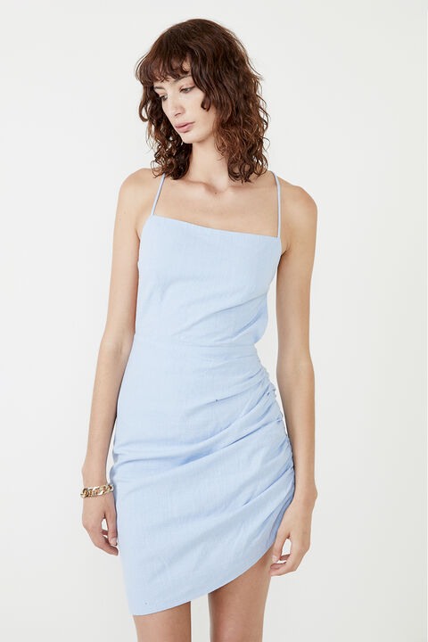 CINDY DREAMER DRESS in colour CERULEAN