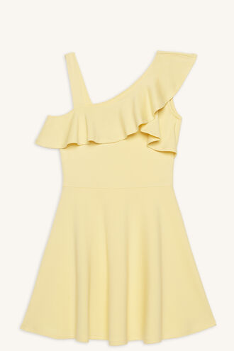 MELBA ASSYM DRESS in colour DANDELION