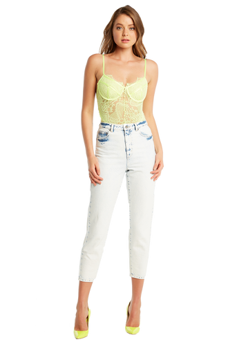 BRITNEY BODYSUIT in colour LIMELIGHT