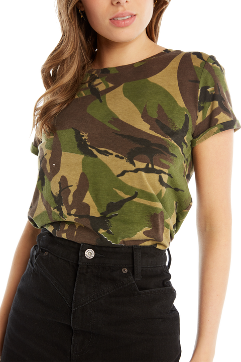 CAMO TEE in colour CHIVE